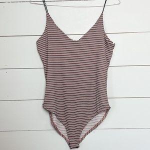 GAZE Striped Bodysuit